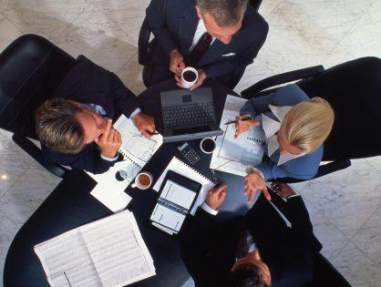 Área de parceria e negócios