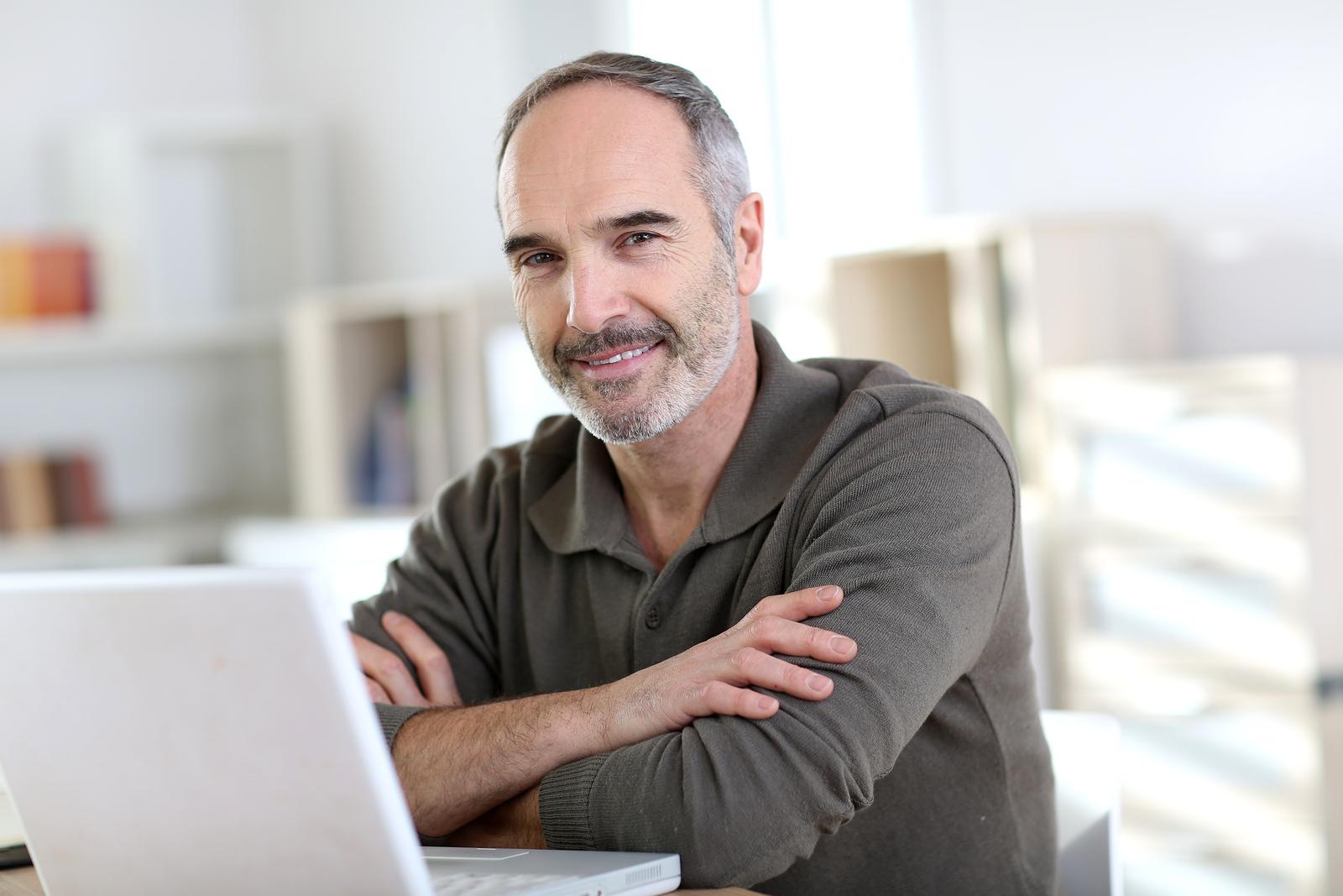 bigstock Senior man working from home w 54884129 - Marketing