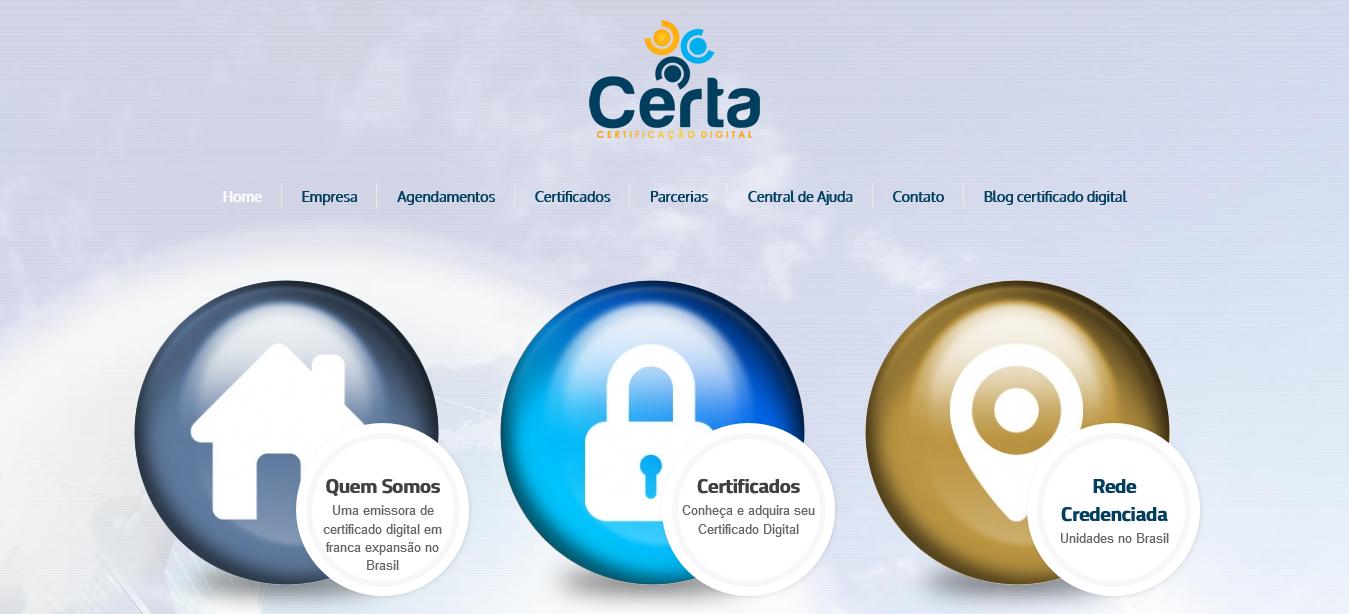 Screenshot 2020 01 19 Certa Certificação Digital - Desenvolvemos o seu site de forma grátis !