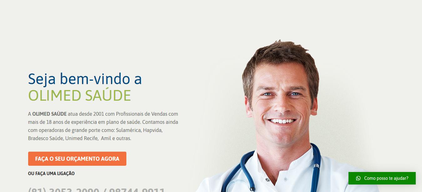 Screenshot 2020 01 19 Olimed Saúde – Olimed Saúde - Desenvolvemos o seu site de forma grátis !